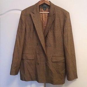 RALPH LAUREN - cashmere/wool houndstooth blazer